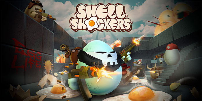 Become a funny shooter egg in Shell Shockers